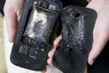 Youth injured after handset explodes