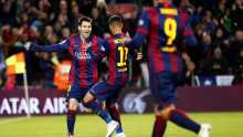 Messi double eases Barca past nine-man Espanyol (Video)